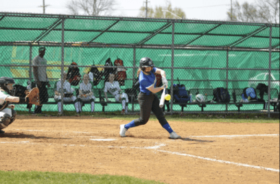 Lauren Lambros is hitting .545 with seven runs scored for RBHS this season. (Photo by Toan Ngo)