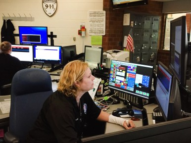WC3 will be staffed with three dispatchers during daytime and evening hours, with two overnight, allowing more than one dispatcher to assist on calls and improve response times. | Bob Uphues/Editor