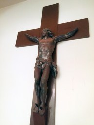 This metal figure of the crucified Christ reportedly was salvaged from a French battlefield and sent to St. Paul's Church by Hedley H. Cooper during his time there. It's now displayed in the parish's Guild Room.   Bob Uphues/Editor