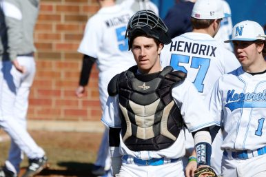 Nazareth junior catcher Andy McKenna handled the Roadrunners' talented pitching staff this season. He also batted .420 with 2 home runs and 11 RBIs.(Courtesy Nazareth Academy)