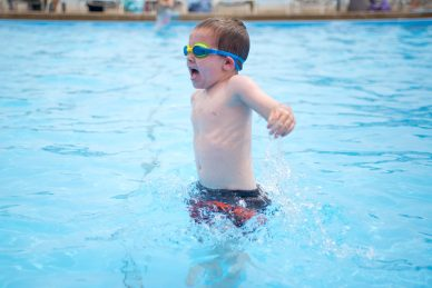 Jake Sherman, 4, of Riverside, plays in the smaller pool and practices holding his breath under water on June 14, at the Riverside Swim Club on Bloomingbank Road in Riverside. | Alexa Rogals/Staff Photographer