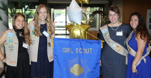 Local Girl Scout Ambassadors from Troop 40657 (from left) Radka Pribyl Pierdinock and Kaitlin Gaynor, and from Troop 42798, Daniela Pope and Mia Spina earned Gold Awards, the organization's highest honor. | PROVIDED