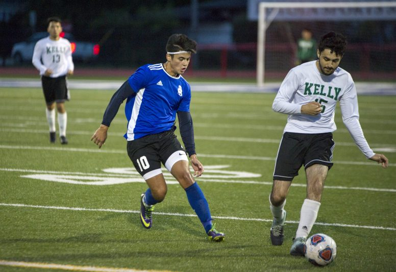 RBHS soccer player Daniel Villegas (#10), left, is a top playmaker and scorer for the Bulldogs this season. (Alexa Rogals/Staff Photographer)
