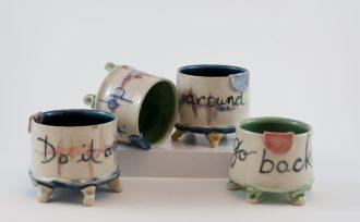 Pottery mug by Shannon Roman Gosciejew.