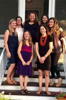 The 2018-19 RJWC board includes (clockwise from front left) Kerri Bradford, Ashley Prosser, Jill Mateo, Kelly Rehmer, Lauren Lendman, Joanne Schiemann, and Jenn Dvorak.