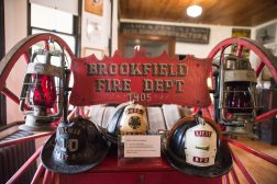 Brookfield Fire Department gear from 1905 is displayed inside on Oct. 26, at the Grossdale Station Museum in Brookfield. | ALEXA ROGALS/Staff Photographer