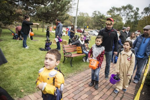 Children dress up in costumes during the annual Monsters on Mainstreet trick-or-treating event on Oct. 27.   ALEXA ROGALS/Staff Photographer