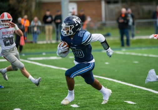 Nazareth senior Michael Love dominated the Class 7A playoffs as a premier playmaker at running back, wide receiver, defensive back and special teams returner. (File photo)