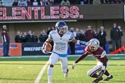 Nazareth senior Michael Love did it all for the Class 7A state champs in 2018. Known for his playamking ability, Love saw action as a wide receiver, running back, defensive back and returner on special teams. (File photo)