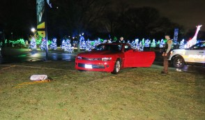 An 84-year-old Riverside woman drove into Brookfield Zoo via a driveway for staff only and wound up on the south mall in the middle of a display for Holiday Magic on Dec. 27. | Courtesy of the Riverside Police Department