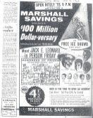 A Marshall Savings' 100 Million Dollar-versary newspaper ad. | Photo courtesy Liz Faron collection