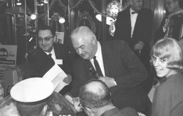 Local TV news personality Len O'Connor mingles with fans at at the Marshall Savings' 100 Million Dollar-versary in 1963. | Photo courtesy of Liz Faron collection