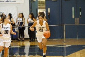 Trinity star Makiyah Williams is only a sophomore. The versatile guard/forward is capable of leading the Blazers back to prominence. (File photo)