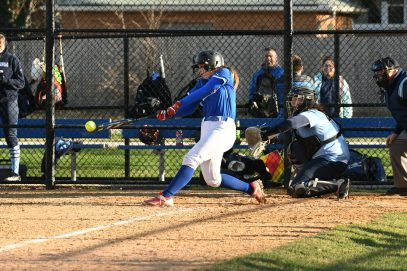 RBHS senior Ashley Lynch, who transferred in from Montini this year, has been a nice addition to the roster. She's hitting .341 with 3 home runs and 20 RBIs. (Photo by Toan Ngo)