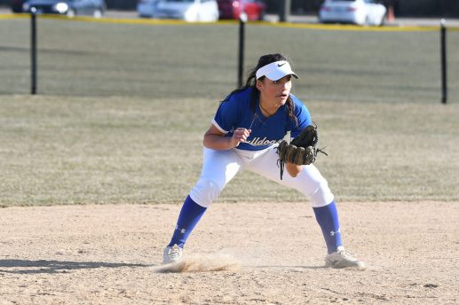 Junior infielder Abigail Favela is a versatile player who has contributed to the Bulldogs' success in the field and at the plate. (Photo by Toan Ngo)