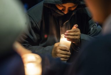 GWMS community gathered last Friday to mourn death of student. | Alexa Rogals/Staff Photographer