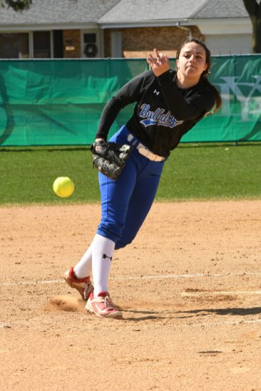 Nadia Ranieri went 16-3 with a 2.43 ERA and 175 strikeouts in 129 innings in 2019. She also hit .516 with 23 RBIs, 53 runs scored and a .613 obp for RBHS. (Photo by Toan Ngo)