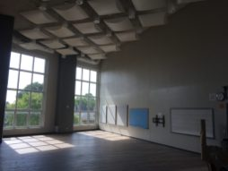 The new band rehearsal room has a high ceiling and acoustical tiles to improve the sound. (Bob Uphues/Editor)