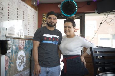 Luis Alvarez and Karla Marin recently took ownership of Xelva Mayan Kitchen on Ogden Avenue in Brookfield. They've streamlined the menu and strive to make as much as possible from scratch, including their salsas, horchata and agua fresca, al pastor and barbacoa. (Alex Rogals/Staff Photographer)