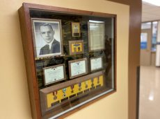 """Also part of the Wall of Honor is a shadowbox containing items related to Brookfield resident Anton """"Bud"""" Jecmen, an Army private first class who was awarded a bronze star for heroism after being killed in action in Vietnam in June 1969. (Bob Uphues/Editor)"""