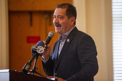 "Congressman Jesus ""Chuy"" Garcia joined Sen. Richard Durbin at the U.S. Census Town Hall in Riverside on Nov. 4. (Alex Rogals/Staff)"