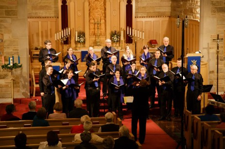 Lux Cantorum performs at Sts. Peter and Paul Church in Riverside on Dec. 8.