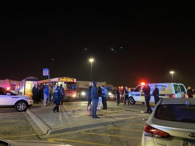 Police from the Northern Illinois Police Alarm System's (NIPAS) Rapid Response Team assisted local police in keeping large groups of youths from entering the mall and seeing they left mall property. | Bob Uphues/Staff
