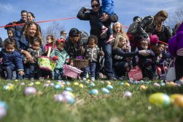 Riverside hosted its annual Easter Egg Hunt at Big Ball Park in April;