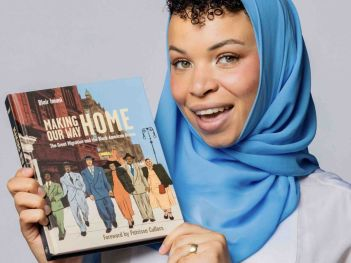 """North Riverside Public Library invites the community to a Zoom discussion of the book """"Making Our Way Home"""" by Blair Imani on Oct. 8."""