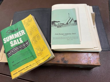 Inside the time capsule were newspapers, documents related to the church and its history, photos and a couple of secular items, including a Sears summer sale catalog. (PROVIDED)