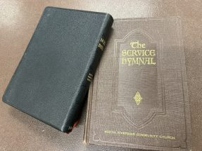 The church's 1957 time capsule also contained brand new editions of a Bible and a service hymnal. (PROVIDED)