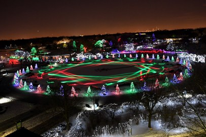 "Visit ""Chicagoland's largest and longest-running lights festival featuring over a million twinkling LED lights"" during the 39th Annual Holiday Magic at Brookfield Zoo."