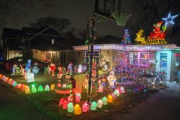 The Pryzybylski home in the 2500 block of 8th Avenue, North Riverside, positively glows with holiday spirit. (Alex Rogals/Staff Photographer)