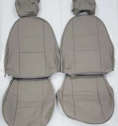 front leather seat covers in beige parchment for saab 900 ng cv 1994 1998 [ 897 x 1082 Pixel ]