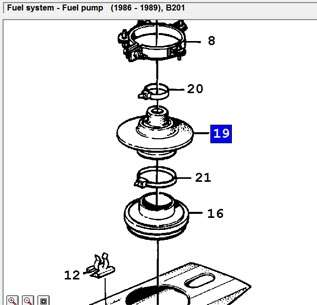 Fuel pump gasket for saab 900 classic 8 valves injection