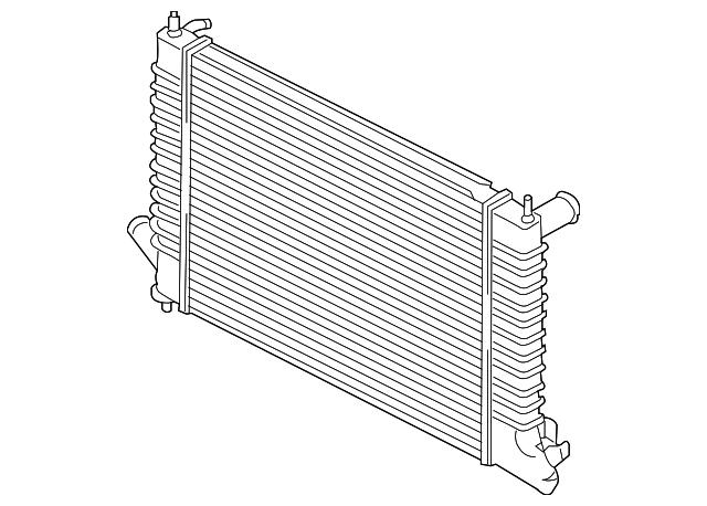 Radiator saab 9.5 petrol 4 cylinders (with manual gearbox