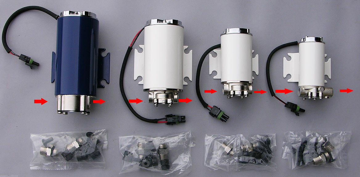 Motorcycle Inline Fuel Filter Electric Oil Feed And Scavenge Pumps