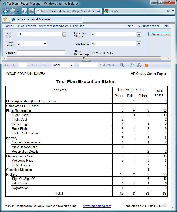 server test plan template - reporting services resume