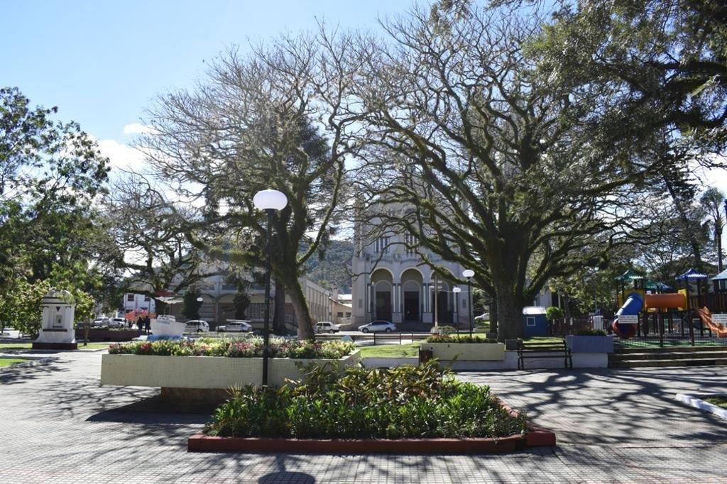Praça Vicente Pallotti onde será realizado o evento - Eloisa Uliana/Assessoria de Comunicação da Prefeitura de Faxinal do Soturno