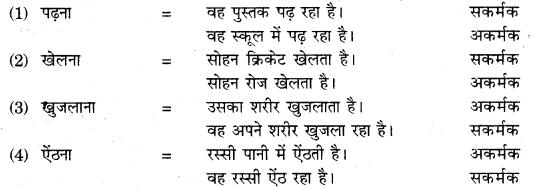 RBSE Class 10 Hindi व्याकरण क्रिया - 1