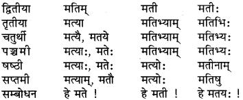 RBSE Class 6 Sanskrit व्याकरण शब्द-रूप प्रकरणम् 9
