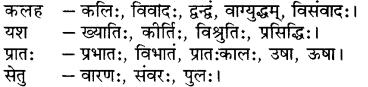 RBSE Class 7 Sanskrit व्याकरण पर्याय, समानार्थक एवं विलोम शब्दः 2