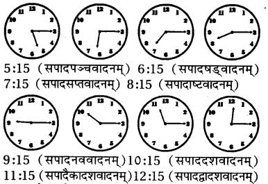 RBSE Class 7 Sanskrit व्याकरण समयलेखनम् 3
