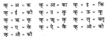 RBSE Class 9 Hindi व्याकरण वर्ण विचार एवं आक्षरिक खण्ड 1