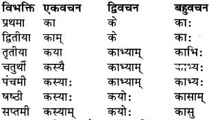 RBSE Class 9 Sanskrit व्याकरण रूप-प्रकरणम् 24