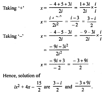 RBSE Solutions for Class 11 Maths Chapter 5 Complex Numbers Ex 5.4 3