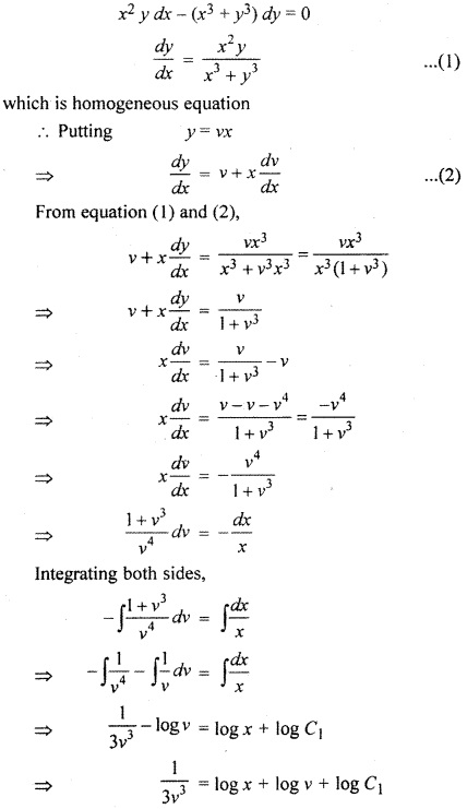 RBSE Solutions for Class 12 Maths Chapter 12 Differential Equation
