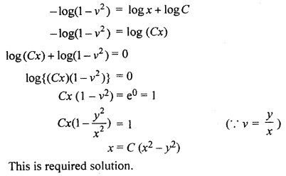 RBSE Solutions for Class 12 Maths Chapter 12 Differential Equation Ex 12.6