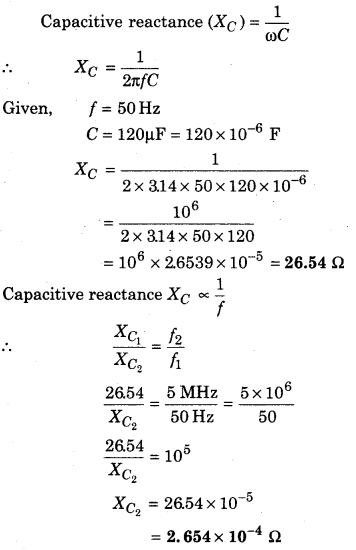 RBSE Solutions for Class 12 Physics Chapter 10 Alternating Current 40
