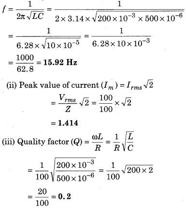 RBSE Solutions for Class 12 Physics Chapter 10 Alternating Current 48